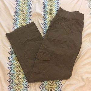 Olive green maternity pants